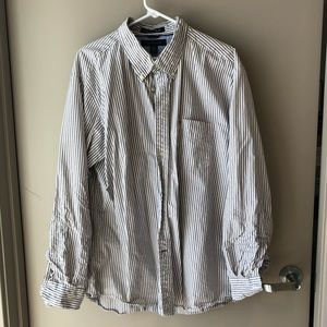 Tommy Hilfiger Grey Striped Button Down - XL